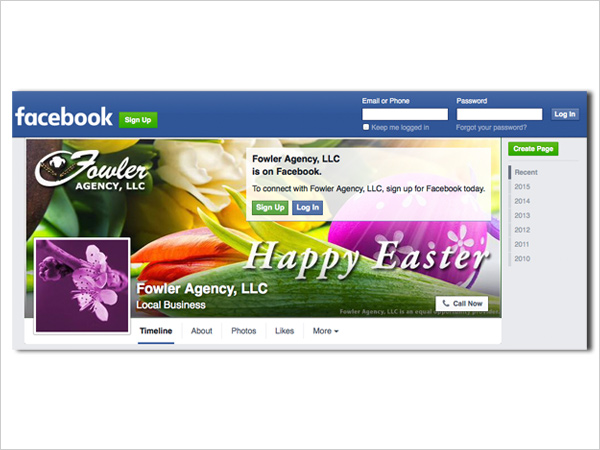 Facebook: Fowler Agency Easter