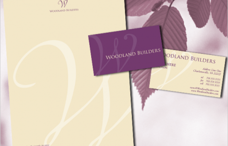 Woodland Builders Logo & Stationery