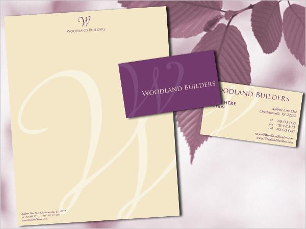 Woodland Builders Logo & Stationery