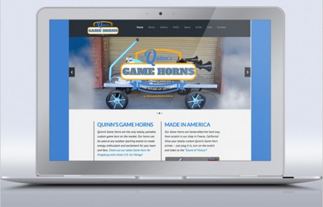Quinns Game Horns Logo & Web Site Design