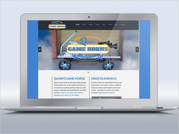 Quinns Game Horns Logo & Web Site Design