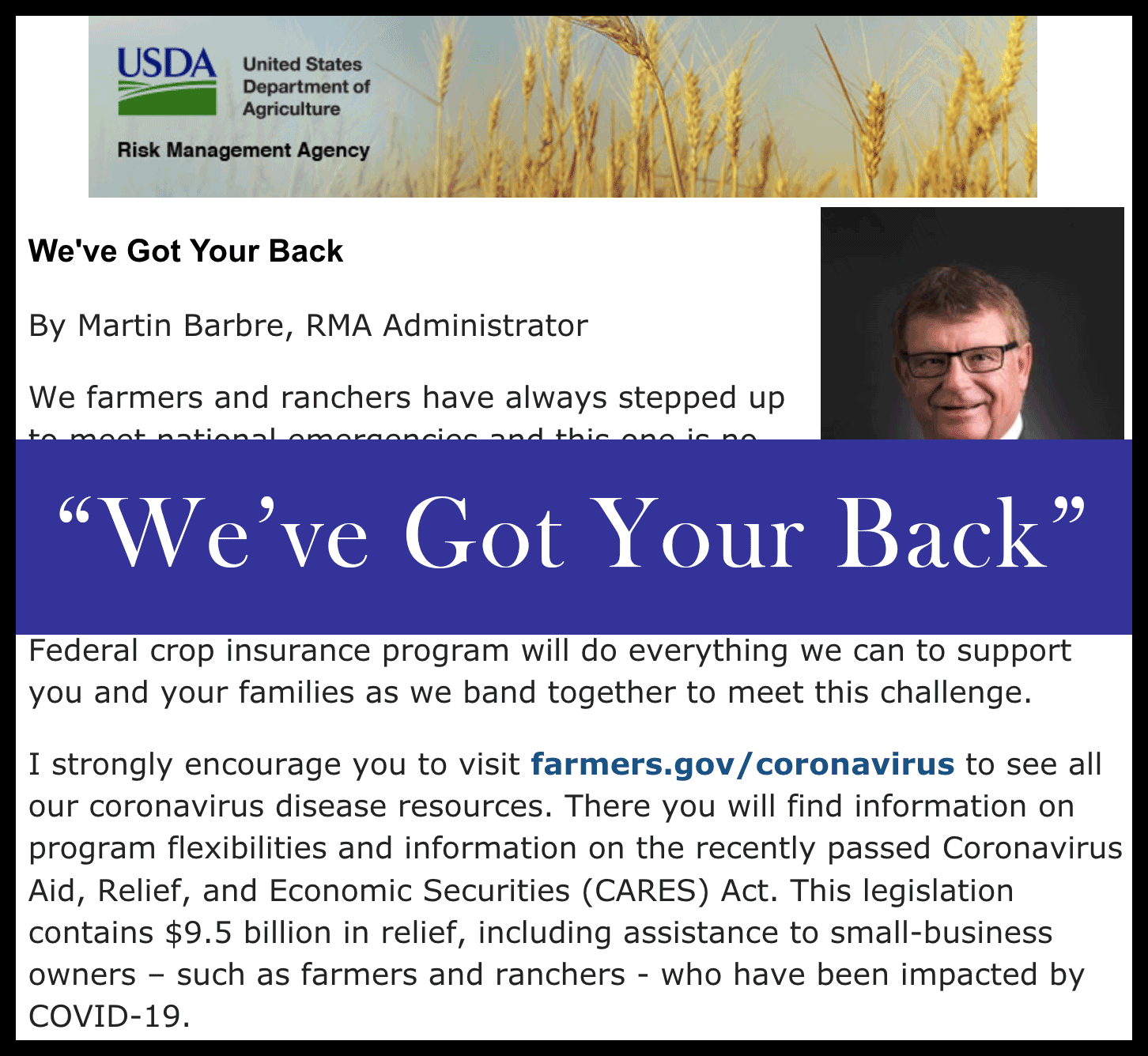 USDA | We've Got Your Back